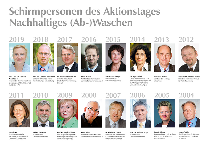 Schirmpersonen Aktionstage 2019 - 2004